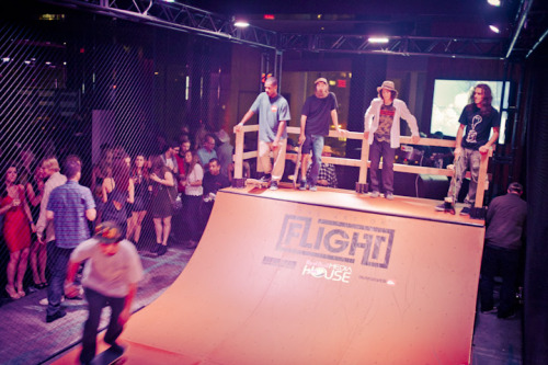 Fashion Week? It's Also Thrashin' Week! A dispatch from GQ's resident skater historian Cole Louison (whose kickass definitive history of skateboarding, The Impossible, is a must-read, but that's a whole other subject):  Much as we celebrate Fashion Week, it has also fueled a pretty creative anti-culture. The celebrities, the paparazzi, the self-appointed security guiding sidewalk traffic while we try and get to work—there's a lot to grumble about. But this year things seem to have reached a head. Maybe Anna's entourage cut off the wrong people, or everyone's still seething about 2010's lumberjacking at Lincoln Center—and doesn't that fucking tent gets bigger and more permanent-looking every year?—but for the first time a group of notable Uptowners have mobilized to launch a counter-event. Introducing Thrashin' Week: a celebration of edgy music, counterculture, and all things decidely not FW. Held at the swank Stone Rose Lounge by Lincoln Center, within gawking distance of the great white tents, the event is a brainchild of nightlife gurus Gerber Group and energy drink Godhead Red Bull, who have erected a full-scale skateboard ramp INSIDE the lounge. Pro skaters will give demos and host clinics, with music by Motion City Soundtrack, London Souls, Terry Urban, and more. Events are open to the public. Leave your snakeskin boots at home.