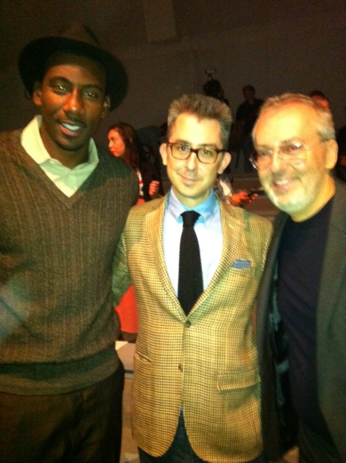 Spotted at Richard Chai Amar'e Stoudemire, with GQ's Michael Hainey and Jim Moore.