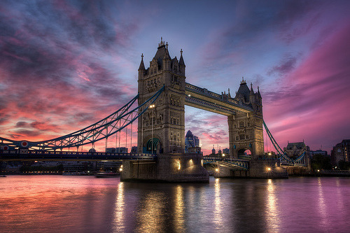 theworldwelivein:  Tower Bridge Sunset | London, England TheFella | tumblr