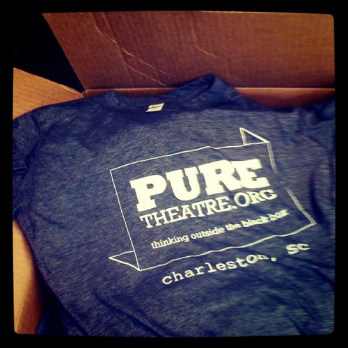 spoolsofthread:  PURE Theatre t-shirts are here! Get them while they are hot!  Only $15! (Taken with instagram)