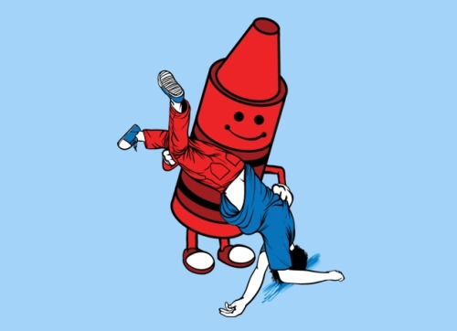 Crayon Role Reversal - Hilarious t-shirt concept from Threadless.  stephendiebold: x
