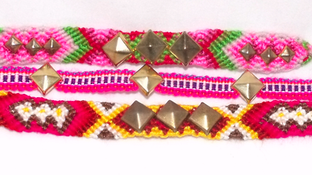 Set of Pyramid Stud Friendship Bracelets available HERE.