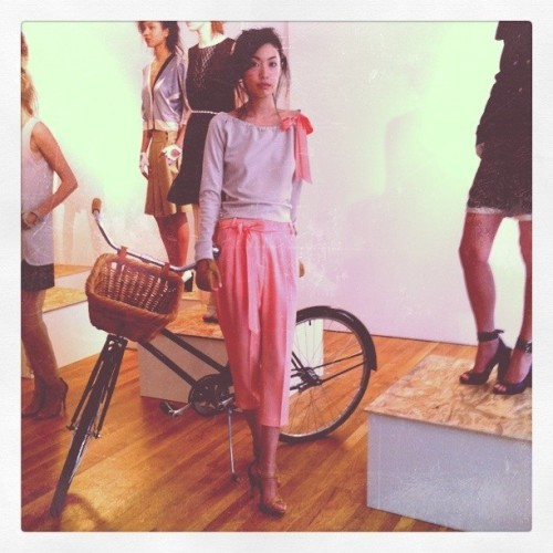 Bikes n pastels are in for Spring! @maisonette1977 #nyfw #NYC #fashion (Taken with instagram)