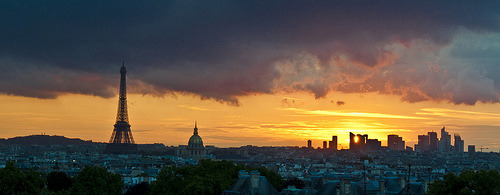 Fencing the Sun (by zach.stone) Paris in the summer is so nice. This is from the stairs of my sister's appartment building. Ya know, just your normal evening view walking to your flat…