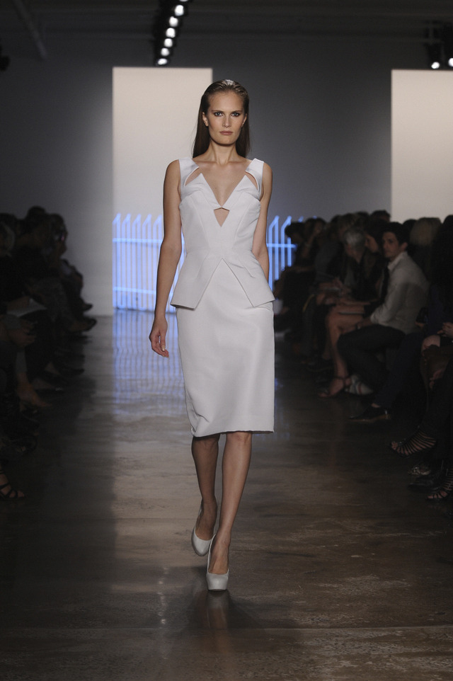 Cushnie et Ochs S/S 2012 Today's runway show at Milk Studios. The rest of the photos are on Milk Made, so head over! Photos by BFA.