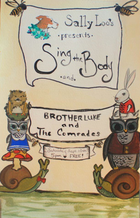 "Saturday September 10th with ""Sing the Body"" in SLO."