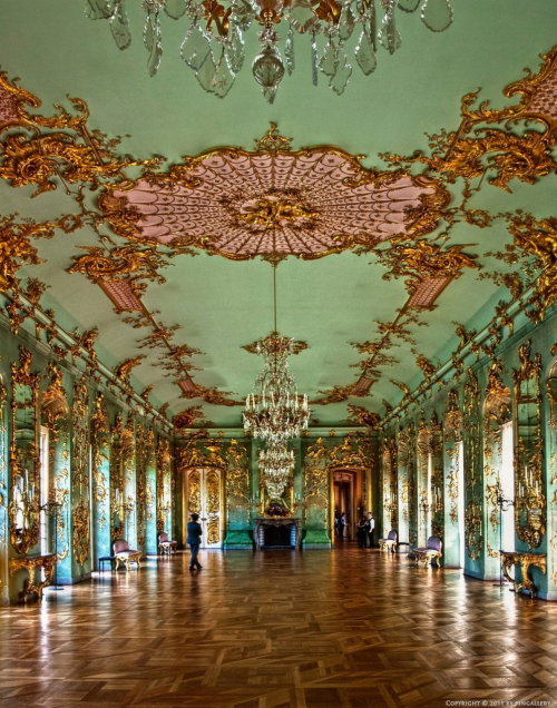 romantisme1812:   The Golden Gallery, in Charlottenburg Palace, Berlin.