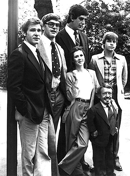 The original cast of the original Star Wars trilogy, originally. —via