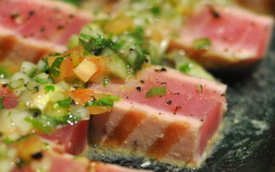 aperture24:  grilled tuna with salsa; kuwait 2011