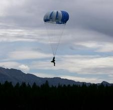 ACTUAL Smoke Jumper over the Rocky Mountains!