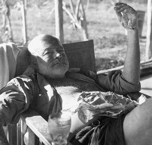ernest hemingway on safari in africa, no copyright