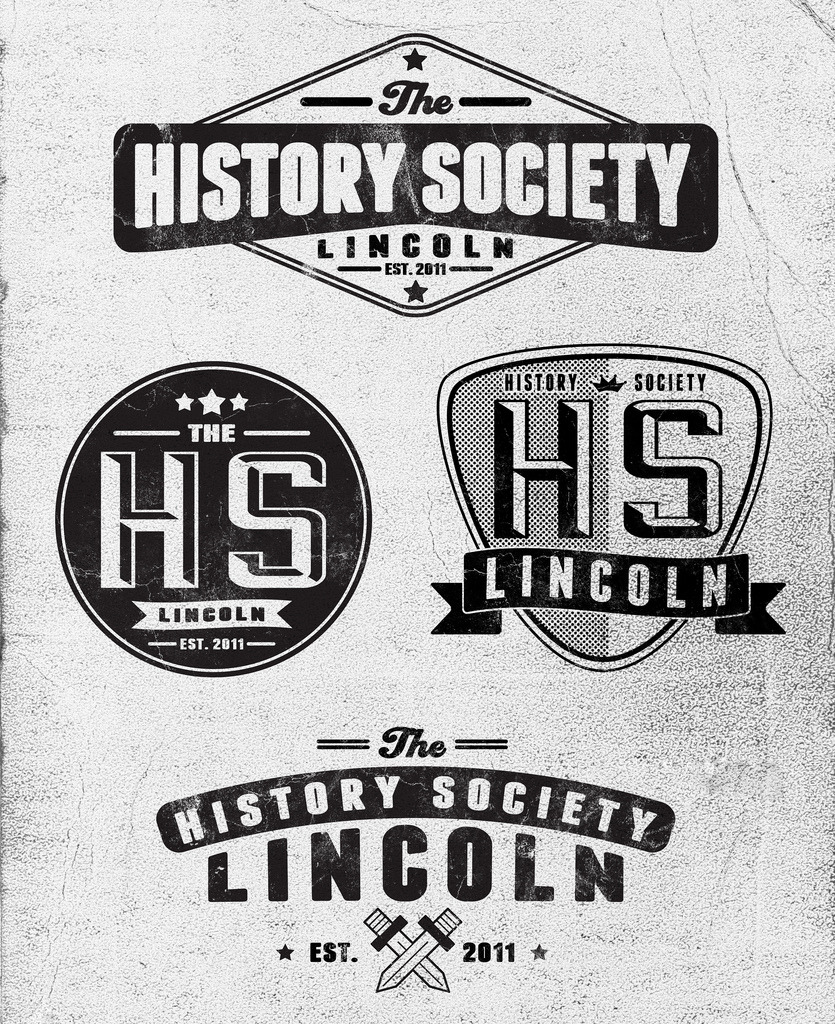 Four concepts of different varieties for University of Lincoln History Society.Still in the early stages, nothing is finished until approved!