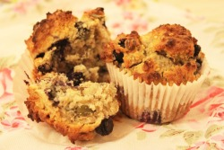 Gluten Free Seeded, Oat & Blueberry Breakfast Muffins