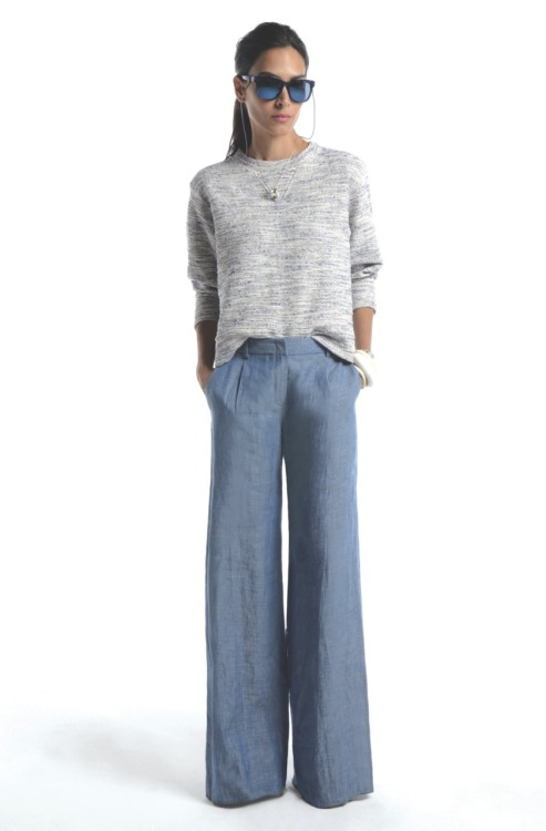 Great wide leg.  glamour:  A casual cool outfit idea to copy this weekend (and a good antidote to Fashion Week fatigue) from Jenni Kayne's Spring 2012 collection. Photo: Courtesy of Jenni Kayne