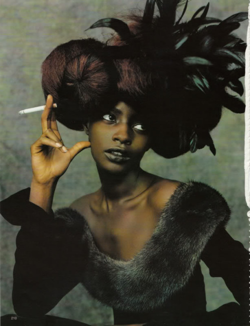 dynamicafrica:  Kiara Kabukuru in Vogue Germany Oct 97 by Ruven Afanador