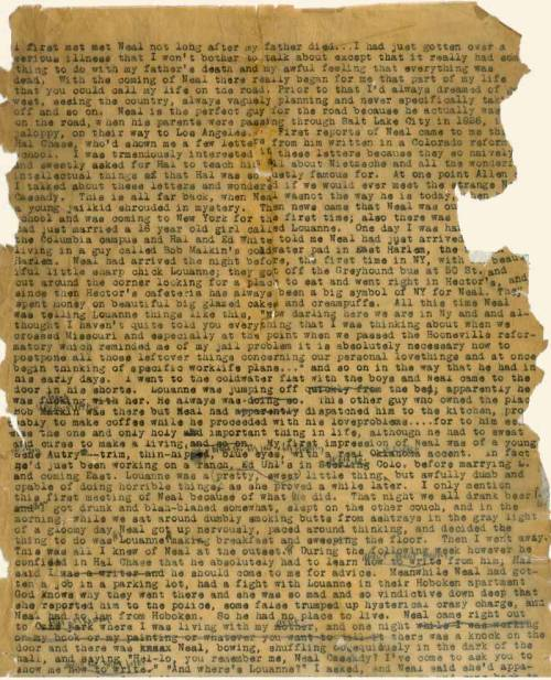 thesoundofthesinners:  The original scroll of On the Road