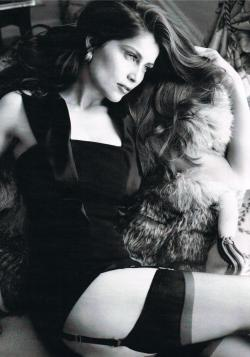 thefashionatelier:  Laetitia Casta photographed by Marcin Tyszka for Harper's Bazaar Russia September 2010