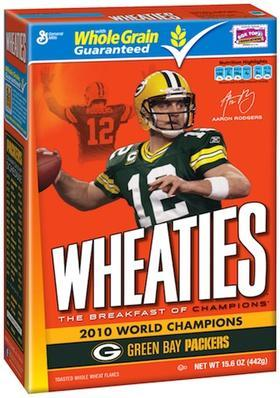 New Wheaties boxes feature Packers' Rodgers, Matthews St. Paul Business Journal
