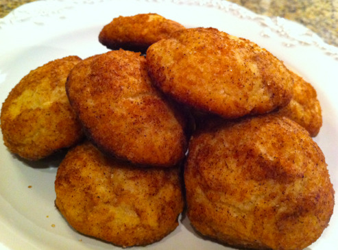 A little something for TASTY TUESDAY!! Some people might pair snickerdoodles with milk.  I'm washing mine down with a glass of Chardonnay. So good. Apparently easy to make.  She posted the recipe on her blog here.