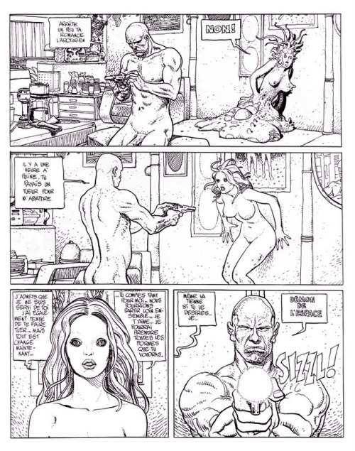 The Long Tomorrow, part 2 Page 7, black & white comparison