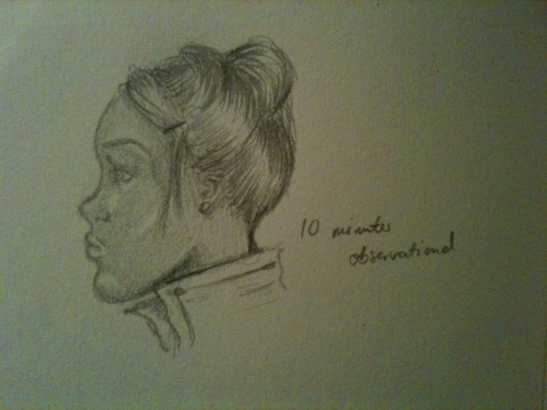 10 minute, observational sketch.