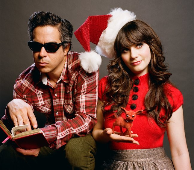 Cannot wait for this. zooeydeschanel:  A Very She & Him Christmas!  So excited, you guys!