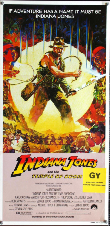 deanpizzo:  Rare Indiana Jones and the Temple of Doom movie poster.