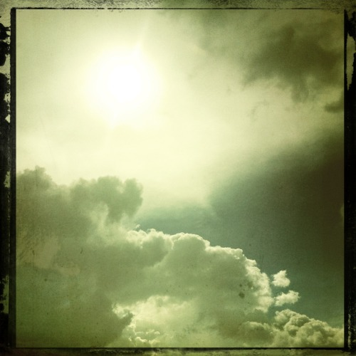 Clouds Buckhorst H1 Lens, Cano Cafenol Film, No Flash, Taken with Hipstamatic