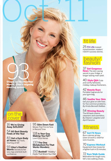 ohsteptome:  Heather Morris - Fitness Magazine (2)