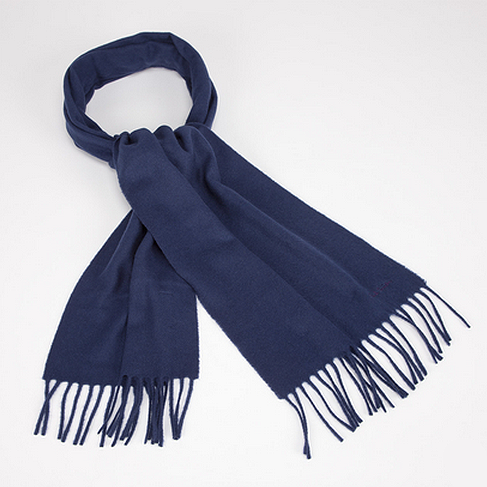 Paul Smith navy cashmere scarf.As worn by Sherlock in series 1 (new scarf for series 2). Tasseled ends. 164 cm length, 32cm width.£115 / $183 Available here at paulsmith.co.uk  Sarah Arthur (Costume designer for Sherlock) on the scarf: Benedict put it on so naturally and it worked every time. It was interesting because there were so many action scenes I needed double of everything, but the one thing I didn't have a double of was that scarf. I was terrified that something would happen and we'd lose it! That scarf was the bane of my life!   This is the new season version of Sherlock's scarf. The scarf he wore in the first series was quite old and very worn in and is no longer sold by Paul Smith.