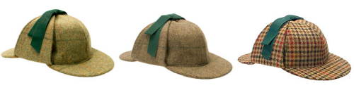 Lock & Co. Hatters London tweed Deerstalker hat.Similar deerstalker making a brief cameo in series 2. Pure wool tweed in 3 designs.£115 / $184 Available here at lockhatters.co.uk