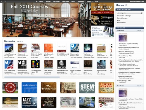 infoneer-pulse:  Apple's iTunes U hits 600 million education downloads  Apple's iTunes U, an initiative encouraging schools to offer print, audio and video downloads of their eduction programs almost entirely free to the public, has hit a new milestone of 600 million downloads. The program was unveiled in early 2007, but according to Apple's figures obtained by The Loop, half of those downloads have occurred over the last year. Apple noted hitting a milestone of 300 million downloads last August, meaning the service has snowballed in growth since.  » via AppleInsider  A great milestone for a great resource.