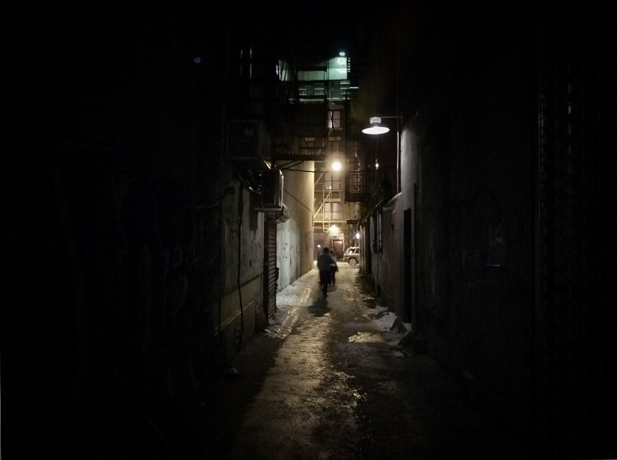nythroughthelens:   Lower East Side alley on a bitterly cold winter night. New York City.   I have some great news to share. I was contacted by Overlook Press a few months back regarding commercial usage of one of my photos from this past winter for the cover of an upcoming book by David Zeltserman. Of course I agreed!    The book is called A Killer's Essence and it will be released on October 13, 2011. You can view the page for A Killer's Essence on Amazon here and you can read some recent reviews of the book on Overlook Press's blog.  If you are curious about what the book jacket looks like, I have the original photo, the book cover and the back of the book jacket all on display on my Google Plus Profile here: