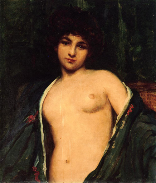 thetranscendentalmodernist: Portrait of Evelyn Nesbit - Oil - James Carroll Beckwith - c. 1900