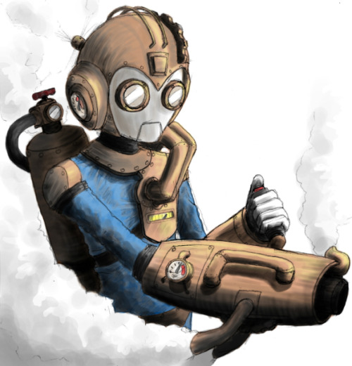 assorted-goodness:  Steampunk Megaman // by Sebastián Contreras Godoy.