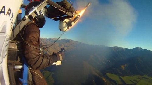 After Record-Making Flight, The Jetpack Will Soon Be on Sale      James Bond fans rejoice, for it looks like your fantasy of reenacting the spiffy exits the famed spy detective would execute is now in technology's hand, and on the market for a price-tag of $100,000      In May, inventor Glenn Martin—along with fire-rescue officers and crews on board a pair of chase helicopters—watched as his jetpack flew for nine minutes and 43 seconds, soaring 3,500 feet into the New Zealand sky. Had the machine been holding a live person instead of a 150-pound dummy, it would have smashed the record for the longest and highest jetpack flight ever. Every other such device in history has managed to be airborne for, at most, only a minute or two. But Martin was out to do more than set records with his demonstration. He wanted to prove that his design was safe enough to become the first commercial jetpack—one anyone could buy and fly.