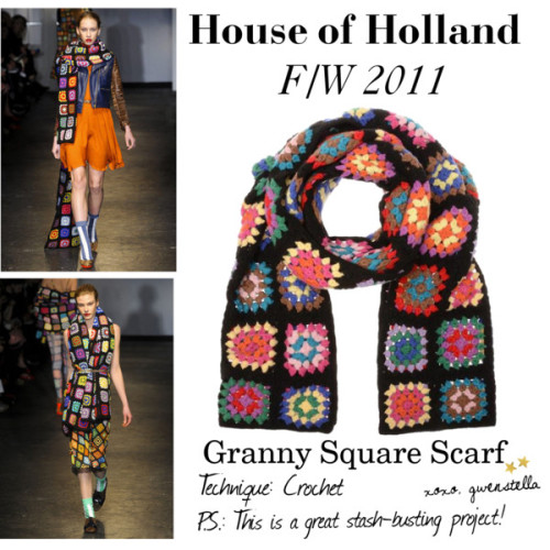 whatshallimaketoday:  (via DIY INSPIRATION: House of Holland's Granny Square Scarf)