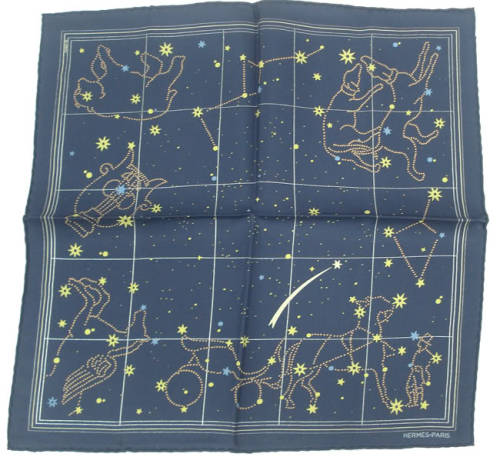 Hermes constellation pocket square, $124.95 — For the astronomy enthusiast.