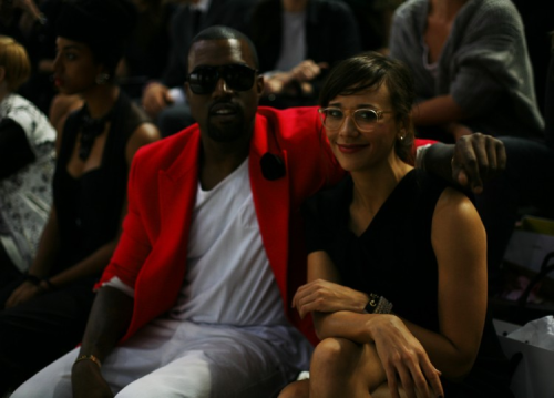 S W A G Kanye with Rashida Jones