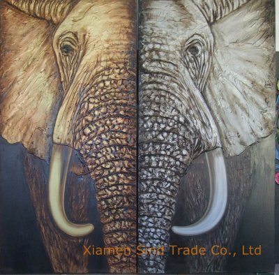 Symmetric Elephant  Looks great to me.  Elephant, oil on canvas, (If you are interest in it, inquiry price at xiamen1986@gmail.com)