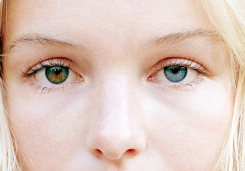 viirginsuicides:  heterochromia  het·er·o·chro·mi·a (hět'ə-rō-krō'mē-ə) n.  A difference in coloration in two structures or two parts of the same structure that are normally alike incolor.