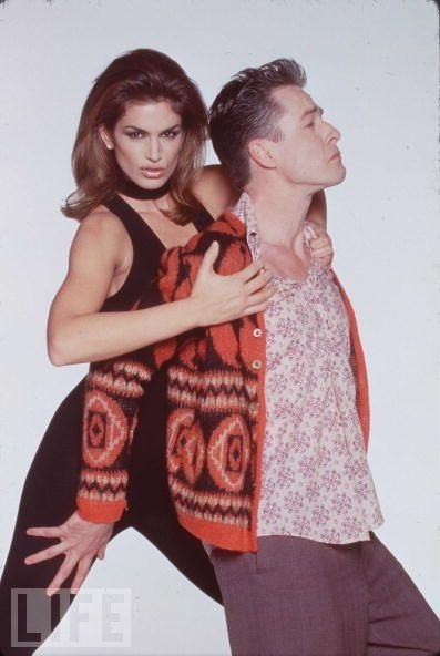 French Stewart and Cindy Crawford, 1998.  Submitted by mercurymay