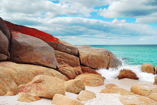 Just the colour of those rocks make me feel warm.