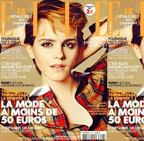 New photoshoot of Emma on cover of Elle France.