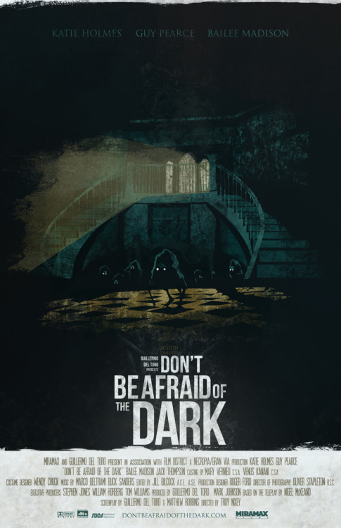 Don't Be Afraid of the Dark by Fro Design. This is the latest in a series of posters cultivated for CHUD.com by Fro Design and I think it's one of the best ones yet. You can purchase this over at Fro's Store.