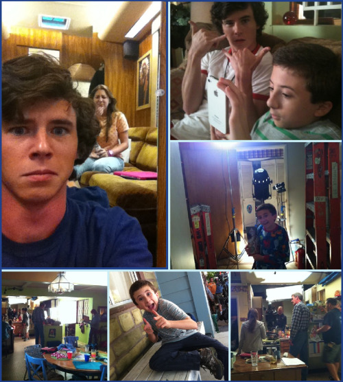 The Middle: Behind the Scenes (all photo credits go to Charlie McDermott and Eden Sher via their twitter pages)