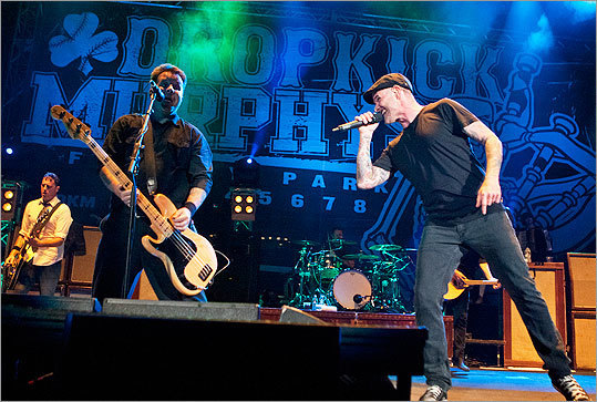 Dropkick Murphys and friends at Fenway Park - The Dropkick Murphys transformed hallowed ground into a hell of a time on Sept. 8 when its six-band package of acoustic upstarts and Boston-bred punks converged on Fenway Park. (13 photos)
