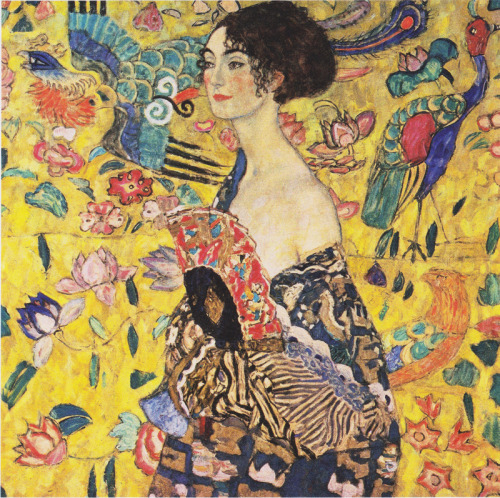 iago-rotten:  Lady with Fan 1918, Gustav Klimt