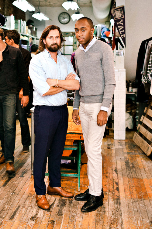 timmelideo:  Ruben from Two Inch Cuffs with Christopher Bastin of GANT Rugger.
