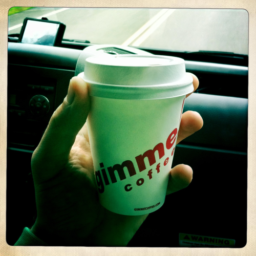"Gimme Coffee! Where ""small"" is actually small."